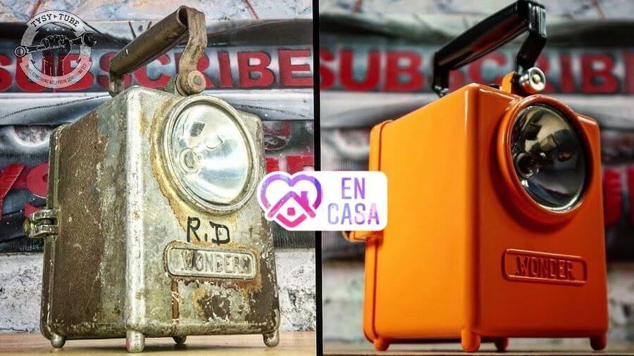 restauración de objetos oxidados