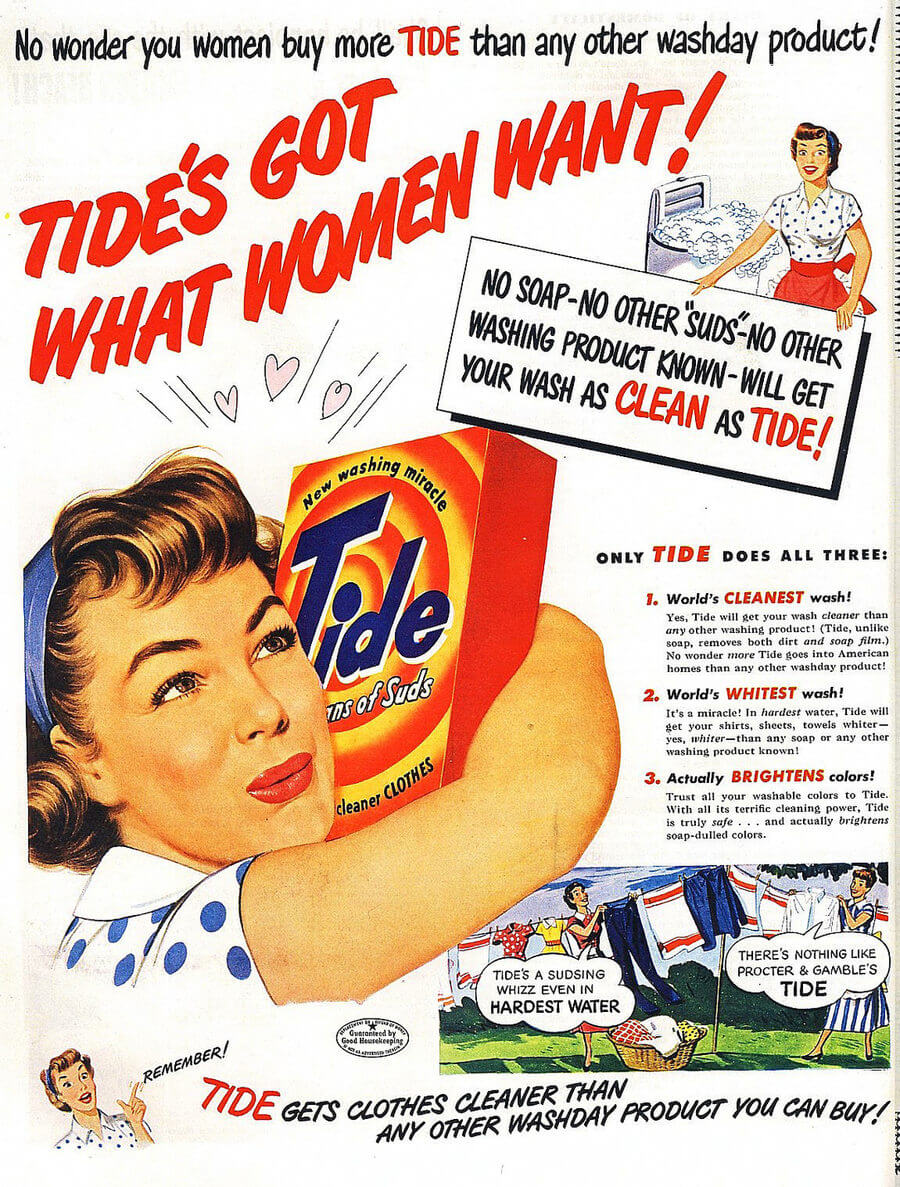 publicidad de los cincuentas y cuarentas