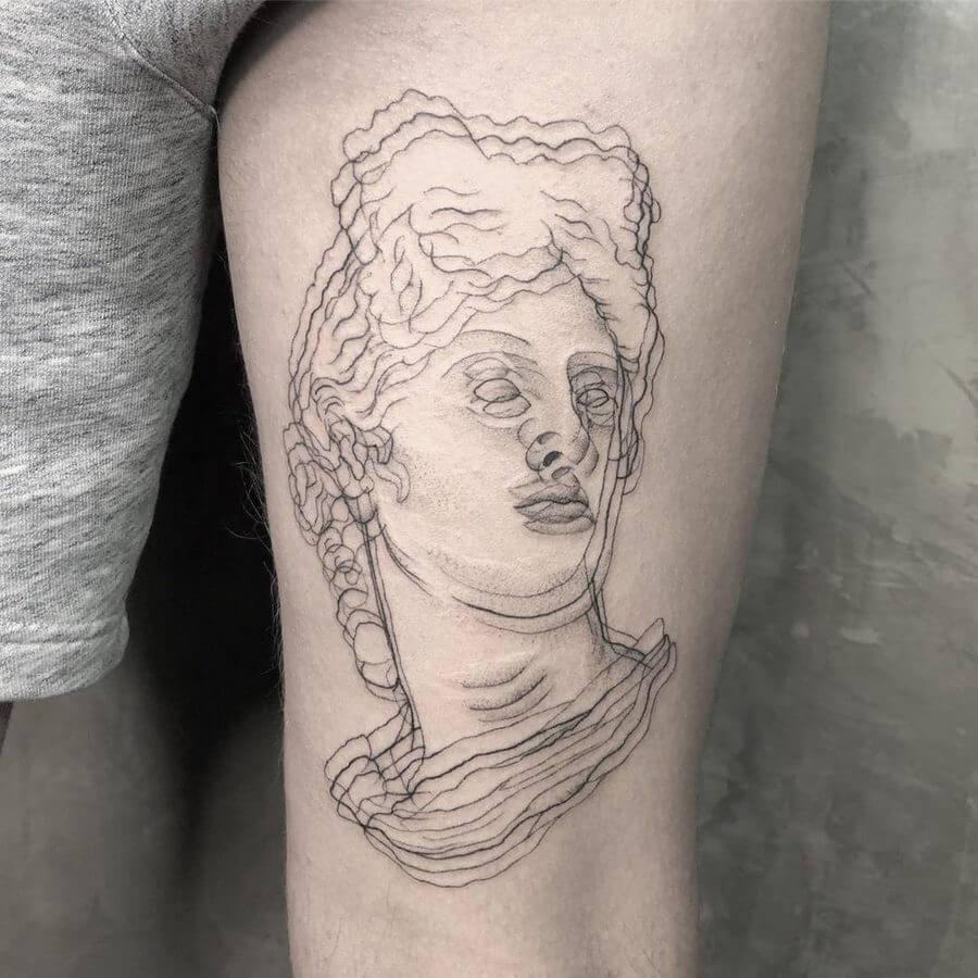 tatuajes con efecto de doble visión