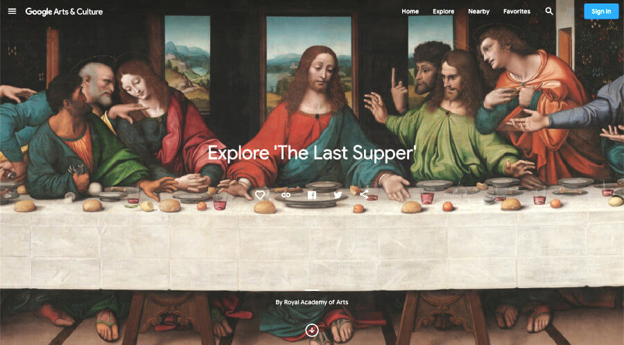 La última cena en alta resolución