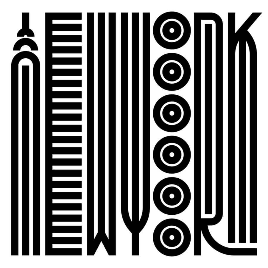 tipografía alargada