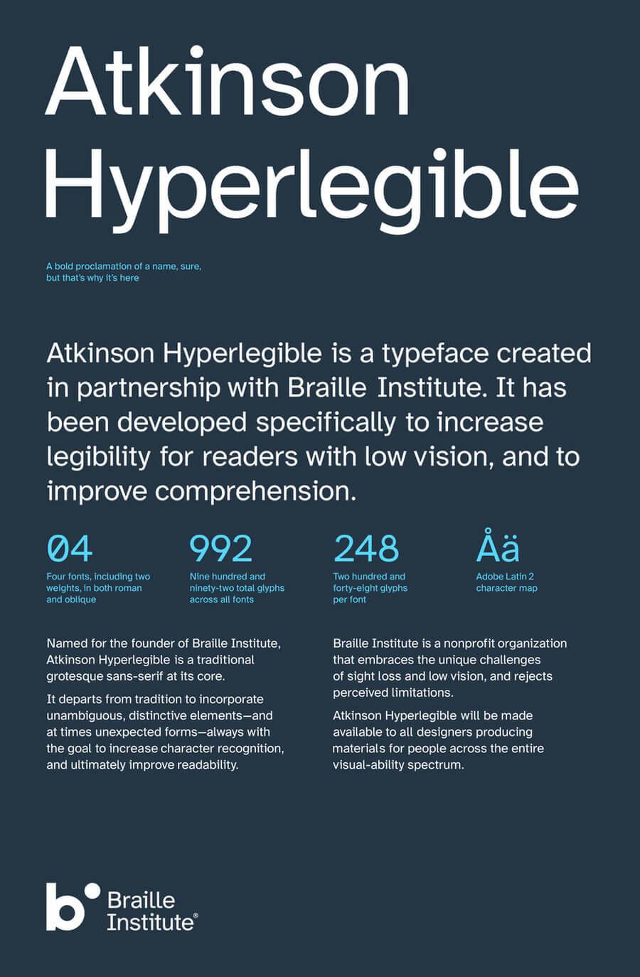 Hyperlegible tipografía gratis