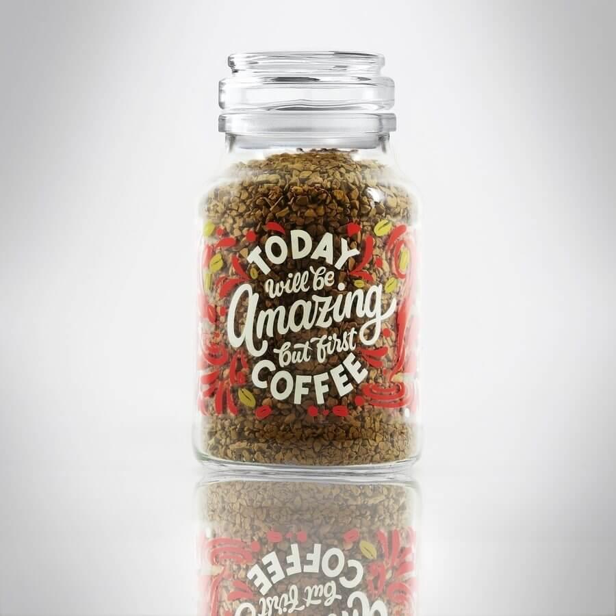 frascos de café