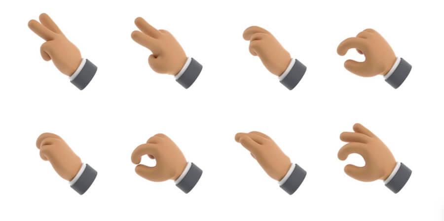 manos en 3D gratis