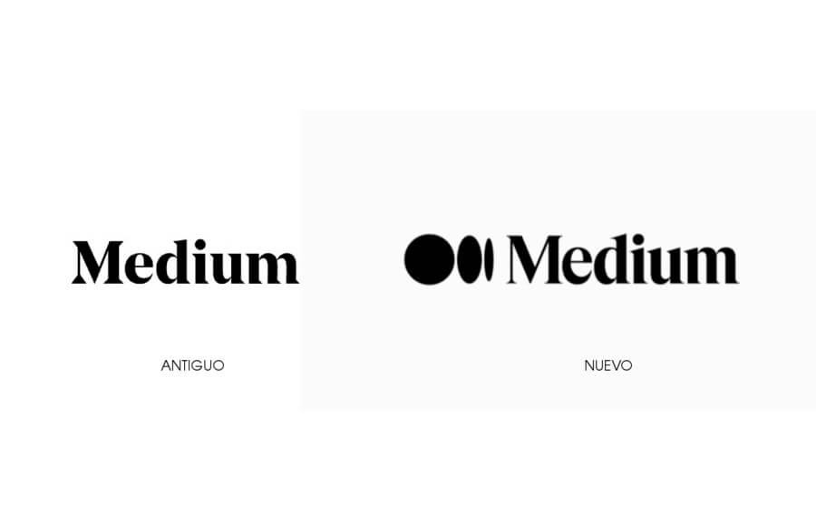 nuevo logo de Medium