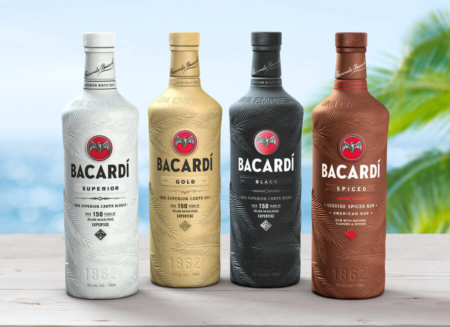 Botellas de papel Bacardi