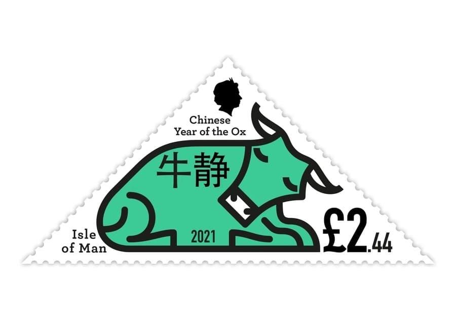 sellos postales año Chino del Buey