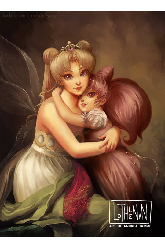 Mother and daughter sailor moon