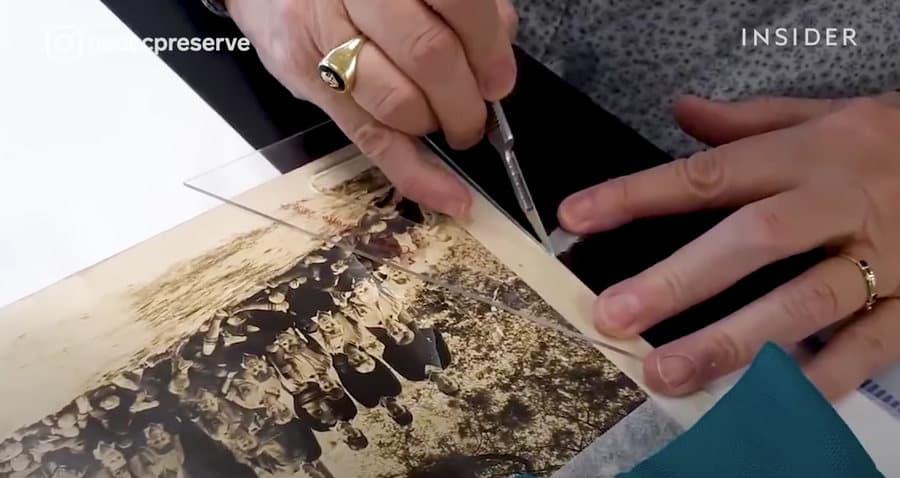restauración de foto antigua