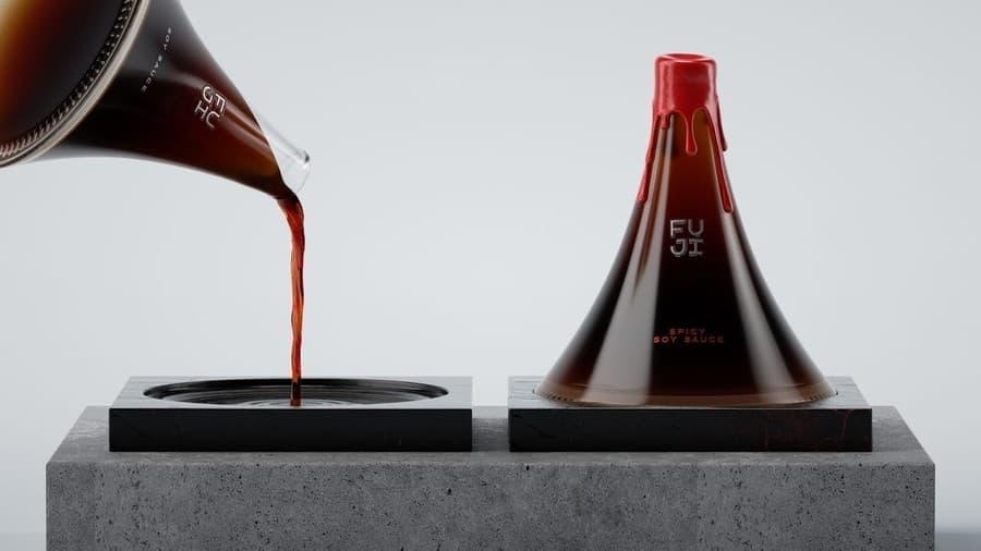 botella salsa de soya