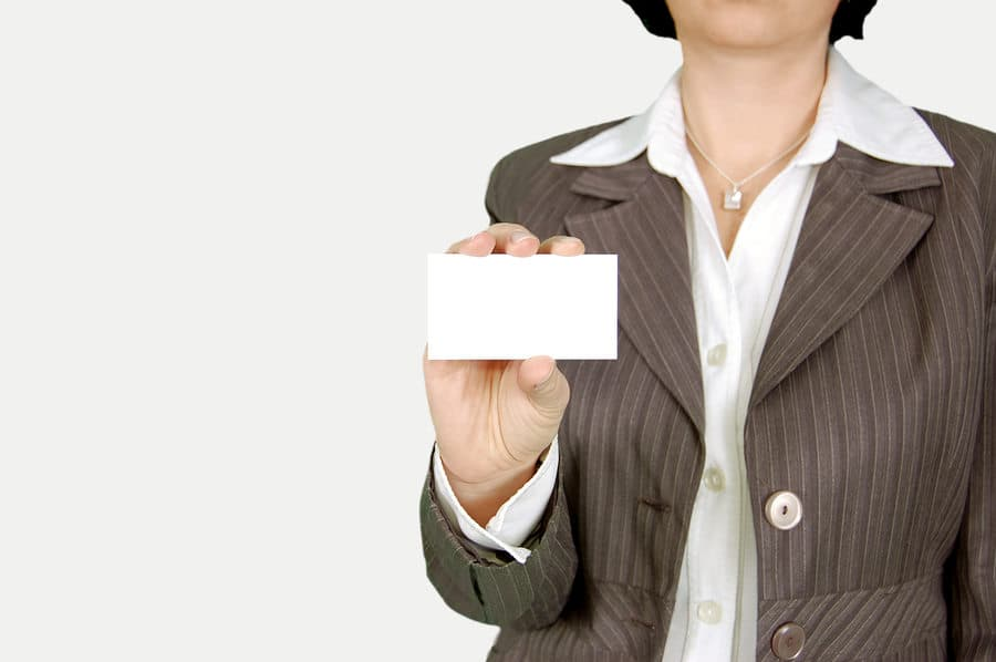 diseño en una tarjeta de visita