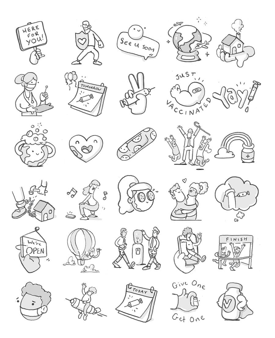 Paquete de stickers para WhatsApp