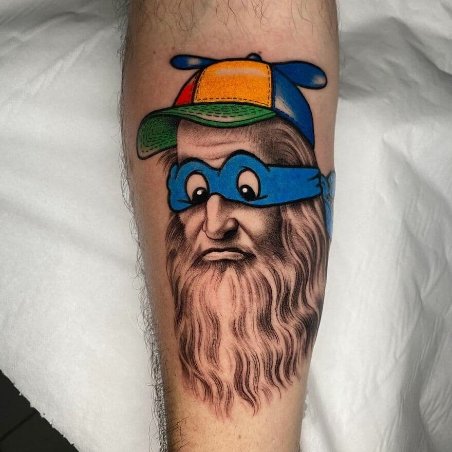 tatuajes realistas con caricaturas