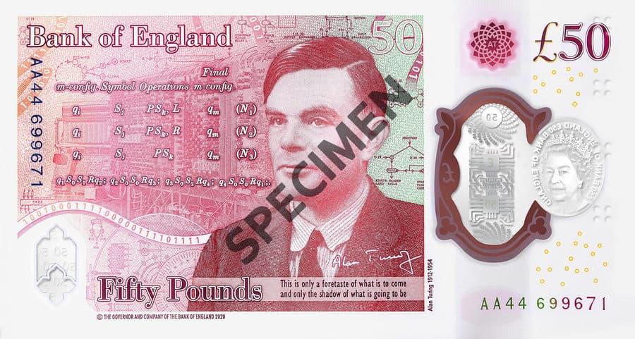 billete de Alan Turing