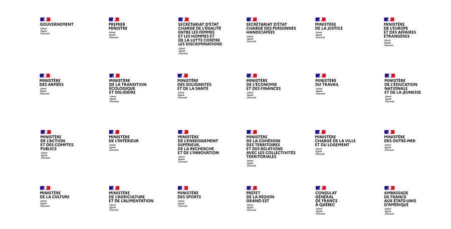 rediseño de marca estatal francés