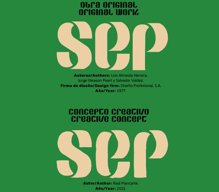 tipografía logo SEP