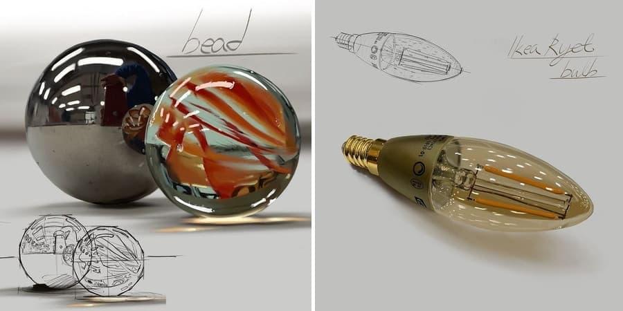 ilustraciones realistas hechas en Procreate